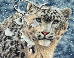 Snow Leopard Cross Stitch Kit from Dimensions £34.96 - Past Impressions