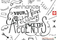 Learn the art of hand-lettering with this tutorial. This video demonstrates various accents to enhance your hand-lettered projects.