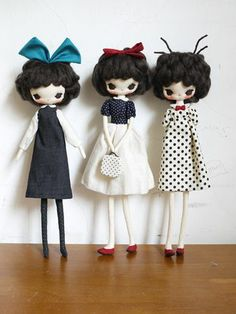 3 lovely fabric girls