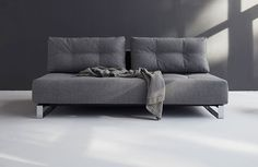 The Diana Supreme sofabed has modern style with flexible functionality. Its unique convertible design easily changes from a sofa to bed, with a large sleeping area long. Sofa Bed, Couch, Spare Room, Supreme, Sofas, Diana, Love Seat, Queen, Reno Ideas