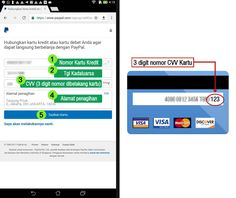 tautkan kartu kredit dengan paypal