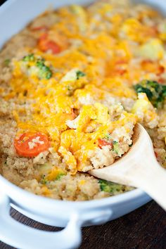 cheesy quinoa casserole recipe