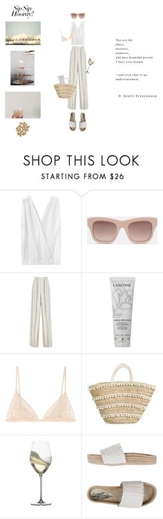 """""""Portia"""" by hanraven ❤ liked on Polyvore featuring Band of Outsiders, STELLA McCARTNEY, Bibhu Mohapatra, Lancôme, Kiki de Montparnasse, Riedel, Free People, girlstrip and WineTastingOutfit"""