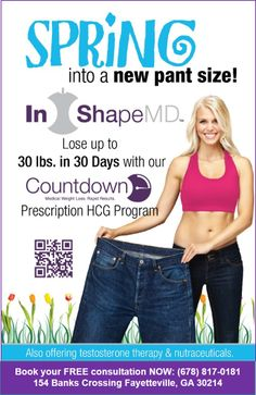 Call an InShapeMD Fayetteville wellness consultant at (678)817-0181 and ask about their hCG program!