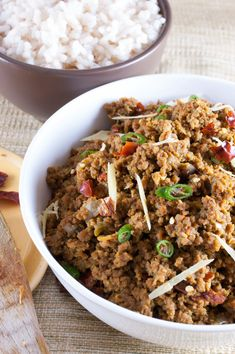 Easy and cheap sautéed ground beef side dish for roti, naan and pita bread.