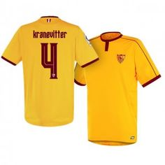 Sevilla FC Third 16-17 Season Yellow #4 Kranevitter Soccer Jersey [I237]