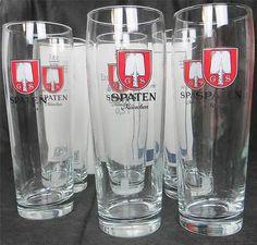 GS Spaten Munchen Lot of 6 Germany Rastal Mug Beer Glasses 0 5L New in Box | eBay