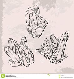Hand Drawing Crystals Set - Download From Over 52 Million High Quality Stock Photos, Images, Vectors. Sign up for FREE today. Image: 58784976