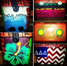 Painted cooler just in time for summer. #sorority