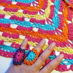 Color for spring #crochet #cotton #crochetring #headscarf #lovecolors #madetoorder #mianvirkkuut