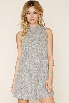 Marled Knit Mini Dress