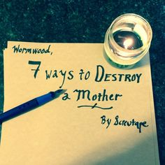 Based on the C.S. Lewis book, The Screwtape Letters: 7 Ways to Destroy a Mother. Convicting and thought provoking article for Moms.