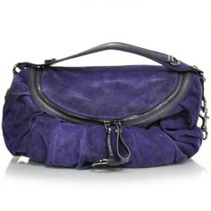 This is an authentic GUCCI Suede Icon Bit Medium Shoulder Bag in Purple suede.  Had this bag once, but difficult to get into it. But I lovvvvv it in purple!!