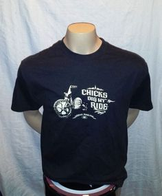 Funny Chicks dig my RIDE t shirt shows a 3 wheeler Size Large Urban Pipeline NWT