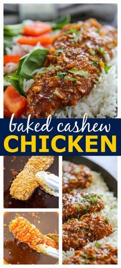 Cashew Chicken, Quick Easy Dinner, Fries In The Oven, Appetizers, Baking, Recipes, Appetizer, Bakken, Backen