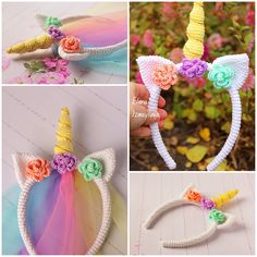 Crochet Unicorn Blanket, Crochet Unicorn Pattern, Crochet Headband Pattern, Crochet Patterns, Crochet Ideas, Easter Crochet, Crochet Bunny, Crochet Toys, Summer Headbands