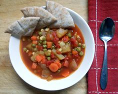 Homemade Fresh Vegetable Soup.
