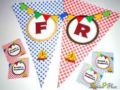 Bandeirinhas e tags para festa Junina