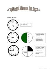 TELL THE TIME worksheet - Free ESL printable worksheets made by teachers