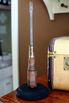 new uses for old tools.  This one is paper towel holder from old screwdriver.