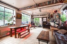 12 U.K. Airbnb Rentals To Book Now #refinery29  http://www.refinery29.com/2014/03/64851/weird-air-b-n-b-listings#slide5  Shoreditch/Hoxton Loft, London  If you're going to stay in hipsterville, you may as well do it properly. This open-plan space is as good as it gets, eclectically decked-out with found objects, midcentury Scandi furniture, and mismatched, er, everything. The result is completely original — no cookie-cutter chain hotel slippers to be found here. Enjoy New York-style loft ...