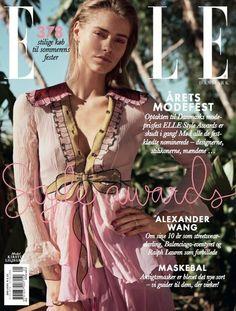 Kirstin Liljegren for Elle Denmark May 2016 Covers - Gucci Spring 2016