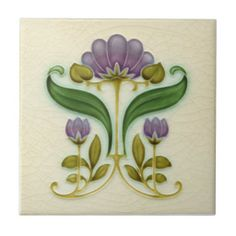 AN015 Art Nouveau Reproduction Antique Tile