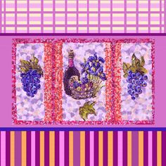 #wine #grapes #stripes #plaid #bottle #vineyard #picnic #iris #irises #pointillism  #art for #fabric #design #contest on #ConnectingThreads.com - please #vote at http://www.connectingthreads.com/cfDesignContest/Entries.cfm?category=All=253 and http://www.connectingthreads.com/cfDesignContest /Entries.cfm?category=All=271 #FabricDesignContest Thank you! #KristieHubler @Mary Kinsey