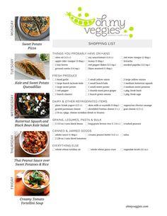 This Week's Meatless Meal Plan   10.13.14 Vegetarian Meal Prep, Vegan Meal Plans, Vegetarian Recipes, Veg Recipes, Delicious Vegan Recipes, Dinner Recipes, Healthy Recipes, Olives, Plan Ahead Meals