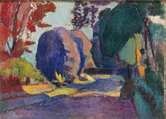Henri Matisse: The Luxembourg Gardens. 1901. 59.5 x 81.5 cm. Oil on canvas. ( The Hermitage, St. Petersburg -  Russia ).