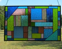quilt stain glass panel – Etsy