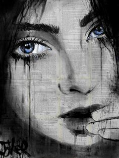 "Saatchi Art Artist LOUI JOVER; Drawing, ""la belle"" #art"