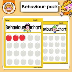 Behaviour charts help children learn essential behaviour skills and daily routines in a visually enganging way.