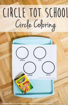 Circle Tot School: Simple + Easy Circle Tot Trays that are all about circles.