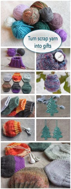 Clever way to use up scrap yarn, and make fun little gifts and party favors.