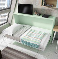 #Camuflaje | Aprovecha al máximo el espacio de las habitaciones de tus hijos con estos módulos de armarios estanterías y camas abatibles. La solución perfecta se abren de noche se cierran de día. Ven a verlos a nuestra exposición.