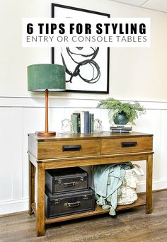 Basic tips and ideas for styling the perfect entry or console table. #styling #decor #walmart #drewbarrymore #homedecor #entryway #entry