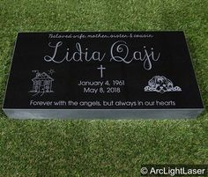 Flat Grave Markers, Memorial Markers, Pop Up Window, Stone Slab, Graveyards, Black Granite, Marketing Materials, First Photo, Cemetery