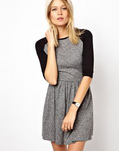Skater Dress With Raglan Sleeve In Nepi at ASOS