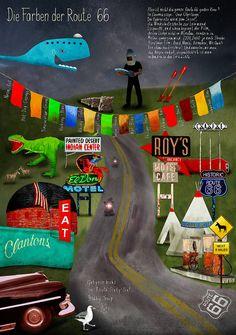 """Willy Puchner """"Die Farben der Route 66""""  Siehe auch: www.willypuchner.com"""
