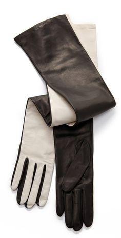 Diane von Furstenberg Two Tone Gloves | SHOPBOP