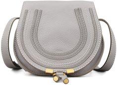 Chloe Marcie Mini Saddle Bag, Gray