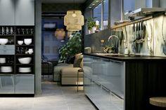 Une cuisine bleu gris, IKEA