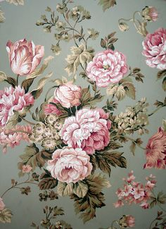 Wallpaper in the foyer by ldh., via Flickr
