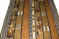 Mali mud cloth ,  African mud cloth , Mud cloth fabric , Bogolan fabric…