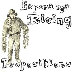 ESPERANZA RISING Grammar PrepositionsTEXT: Esperanza Rising by Pam Munoz RyanGRADE LEVEL: 5th-10thCOMMON CORE: CCSS.ELA-Literacy.L.8.1a ANSWER KEY: IncludedComing soon, this resource will be part of ESPERANZA RISING Unit Teaching Package bundle.Using examples from the novel ESPERANZA RISING, students will study prepositions.