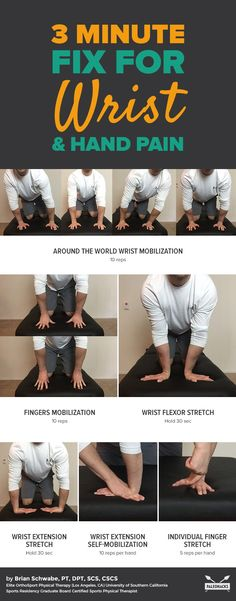 Stiff wrists? Painful thumbs? Try these quick moves to ease aches. Get all exercises here: http://paleo.co/fixwristpain