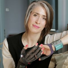 Imogen Heap uses tech gloves that turn hand gestures into music. These are one of the coolest things I have ever seen! She is so awesome!