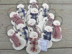 CUTE!  Salt Dough Snowmen Wholesale Set of 12 / by cookiedoughcreations, $17.95 https://www.etsy.com/listing/123039232/salt-dough-snowmen-wholesale-set-of-12?ref=shop_home_active