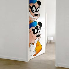 Donald Duck Zware Jongens Deursticker - 211,5 x 83cm